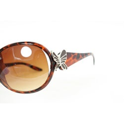 Women's Leopard Butterfly Fashion Sunglasses - Thumbnail 2
