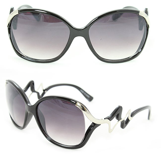 Women's Two-tone Round Fashion Sunglasses