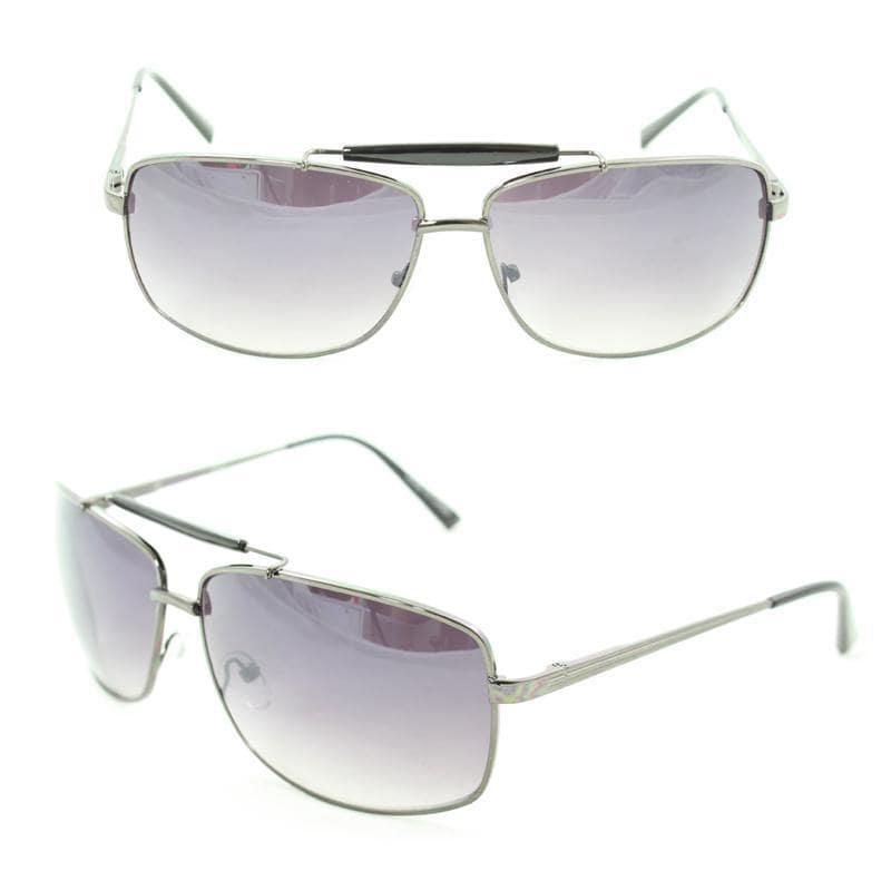 Men's 7073 Grey Metal Navigator Sunglasses