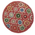 Cottage Home Red Coin Wool Chair Pad