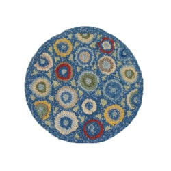 Superbe Cottage Home Blue Coin Chair Pad