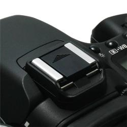 INSTEN Black Camera Flashlight Hot Shoe Cover - Thumbnail 1