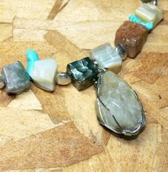 Susen Foster Silverplated 'Nature Calls' Multi-gemstone Necklace