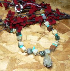 Susen Foster Silverplated 'Nature Calls' Multi-gemstone Necklace