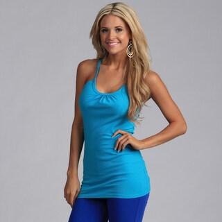 Yogacara Women's Turquoise Cotton Jersey Tank Top