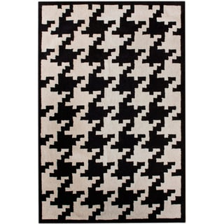 nuLOOM Hand-tufted Spectrum Houndstooth Wool Rug (7'6 x 9'6)