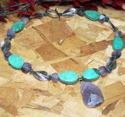 Susen Foster Silverplated 'Turner Falls' Multi-gemstone Necklace