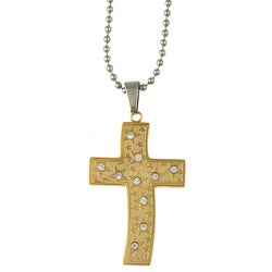 Stainless Steel Goldplated Cross Necklace