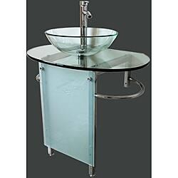 Kokols 30 Inch Vessel Sink Pedestal Bathroom Vanity