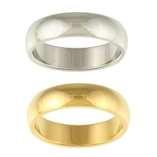 Stainless Steel Men's Domed Band