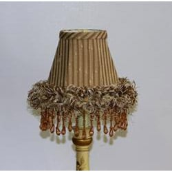 Brown Ruffle Chandelier Mini Shades (Set of 2) - Thumbnail 1