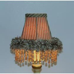 Brown Ruffle Chandelier Mini Shades (Set of 2) - Thumbnail 2