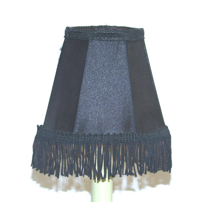 Black Silk Chandelier Mini Shades (Set of 2)