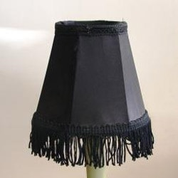 Black Silk Chandelier Mini Shades (Set of 2) - Thumbnail 1