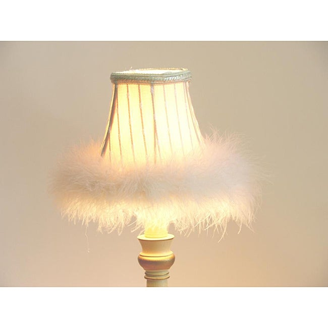 Cream White Faux Fur Chandelier Mini Shades (Set of 2) - Thumbnail 0