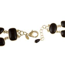 Rivka Friedman 18k Goldplated Black Pebble Bracelet