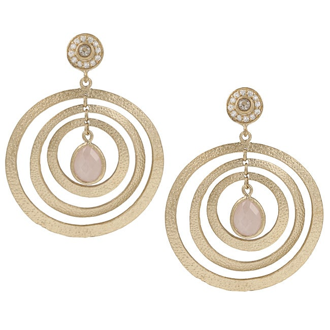 Rivka Friedman 18k Goldplated Pink Quartzite Earrings