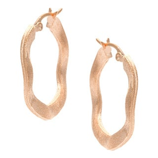 Rivka Friedman Gold Plated Wave Hoop Earrings