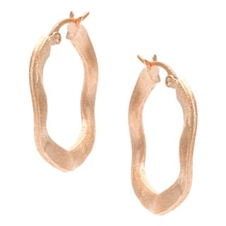 Rivka Friedman Gold Plated Wave Hoop Earrings|https://ak1.ostkcdn.com/images/products/5953378/P13650634.jpg?impolicy=medium