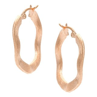 Rivka Friedman Gold Plated Wave Hoop Earrings