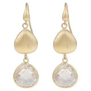 Rivka Friedman Women's 18k Goldplated Crystal Dangle Earrings