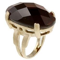 Rivka Friedman 18k Goldplated Oval-cut Crystal Ring