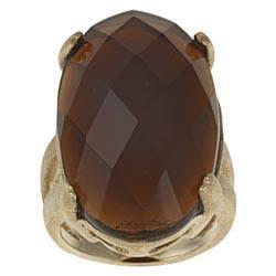 Rivka Friedman Goldplated Oval-cut Crystal Ring|https://ak1.ostkcdn.com/images/products/5953392/Rivka-Friedman-18k-Goldplated-Oval-cut-Crystal-Ring-P13650617.jpg?impolicy=medium