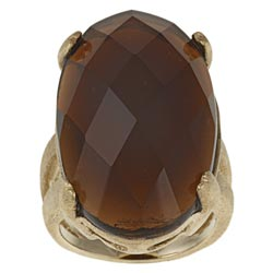 Rivka Friedman Goldplated Oval-cut Crystal Ring