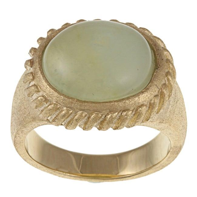 Rivka Friedman Goldplated Jade Ring (8), Women's, Yellow ...