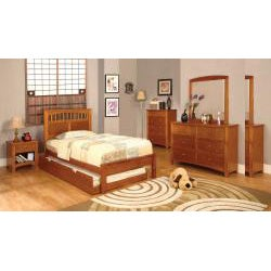 Furniture of America Gavin Full-size Platform Bed Set - Thumbnail 1