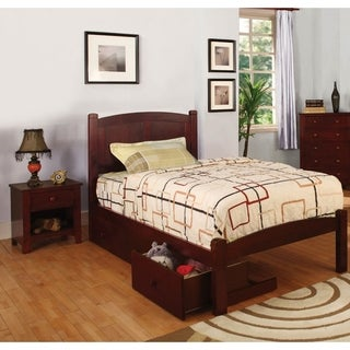 furniture of america lancaster fullsize bed underbed drawers night stand set
