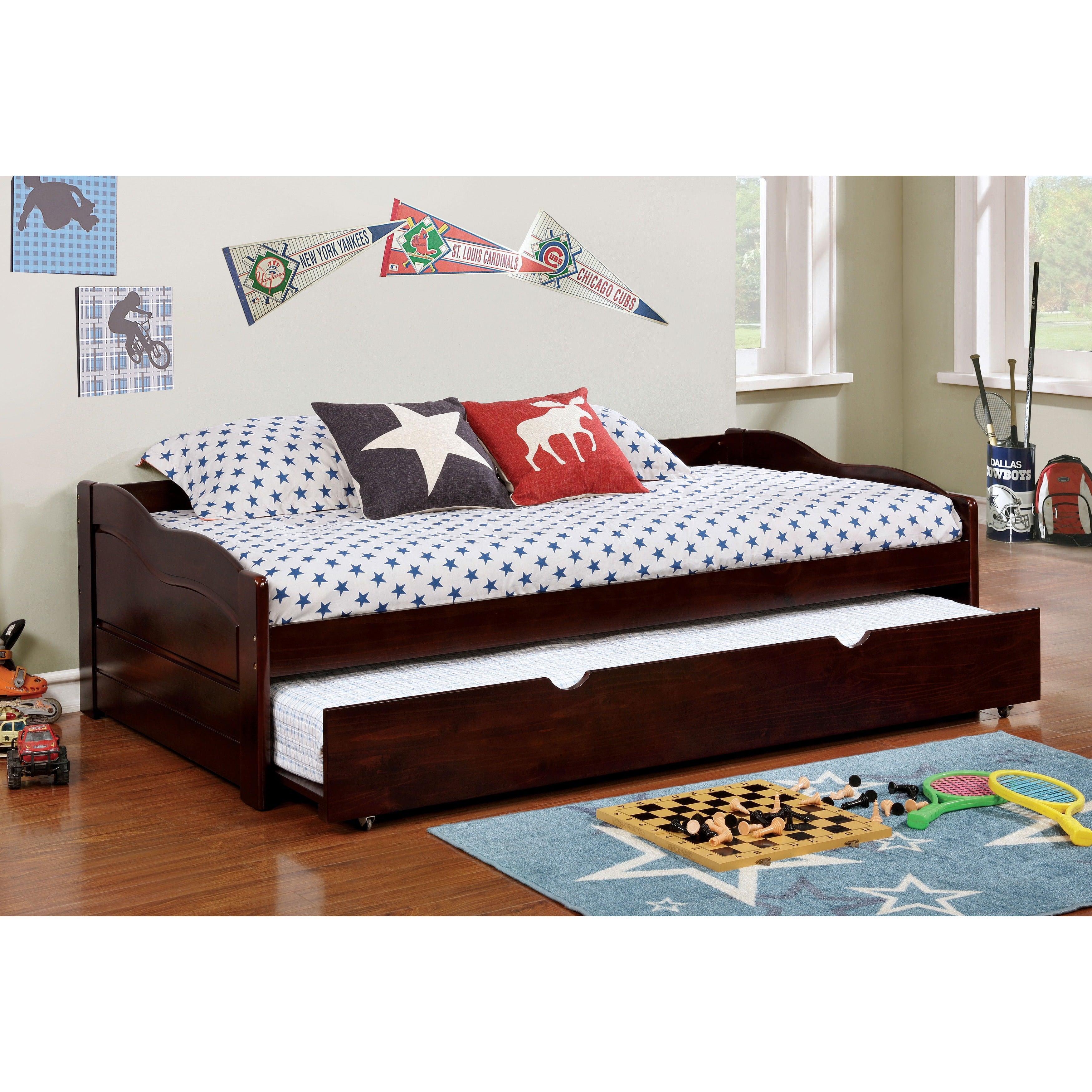 Furniture Of America Bowiea Transitional Wooden Daybed With Twin  # Muebles Pestana