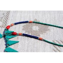 Handmade Silver Tribal Multi-gemstone Necklace (Afghanistan)
