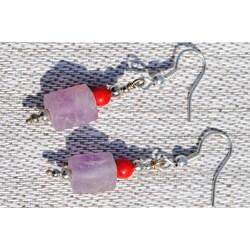Handmade Silver Kanzite and Red Jasper Earrings (Afghanistan)