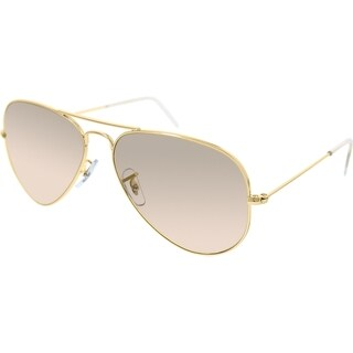 Ray-Ban Aviator RB3025 Unisex Gold Frame Brown/Light Pink Lens Sunglasses