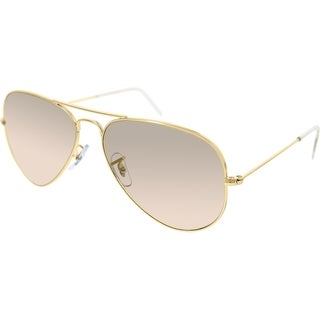Ray-Ban Aviator RB3025 Unisex Gold Frame Brown/Light Pink Lens Sunglasses
