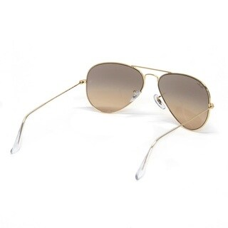Ray-Ban Aviator RB3025 Unisex Gold Frame Silver/Pink Mirror Lens Sunglasses