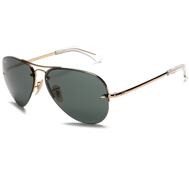 20b24715eec98 Shop Ray-Ban RB3449 001 71 59 Gold Aviator Sunglasses - Free Shipping Today  - Overstock - 5953523
