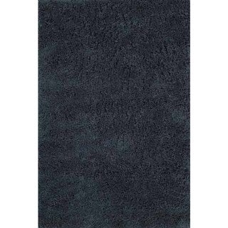 Shaggy Chic Aqua Hand-Tufted Rug (5' x 7')