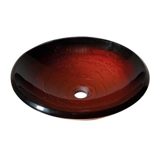 Avanity Contemporary Black Currant Tempered Glass Vessel Sink
