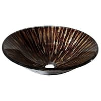 "Avanity 17.7-inch Round Golden Ebony Tempered Glass Vessel Sink - 17.7""W x 4.9""D"