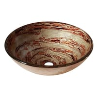 Avanity Contemporary Copper Swirl Tempered Glass Vessel Sink