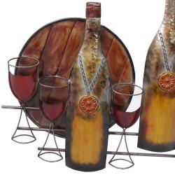 Bottles and Glasses Metal Wall Decor