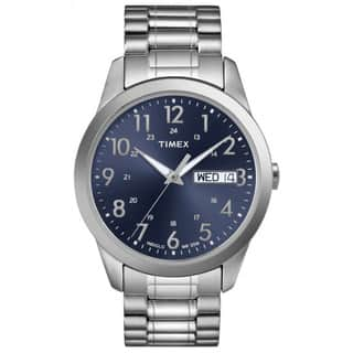 Timex Men's T2M933 Elevated Classics Dress Stainless Steel Expansion Band Watch|https://ak1.ostkcdn.com/images/products/5953791/P13650896.jpg?impolicy=medium