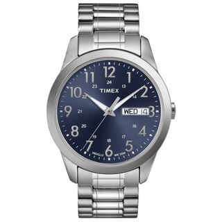 Timex Men's T2M933 Elevated Classics Dress Stainless Steel Expansion Band Watch - silver