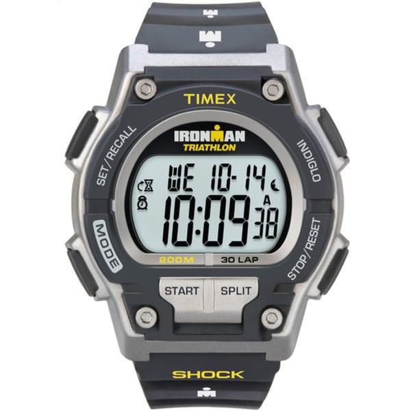 Timex Men's T5K195 Ironman Classic Shock 30-Lap Black/Yellow Watch