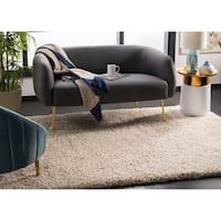 Safavieh California Cozy Plush Beige Shag Rug (4' x 6') - 4' x 6'