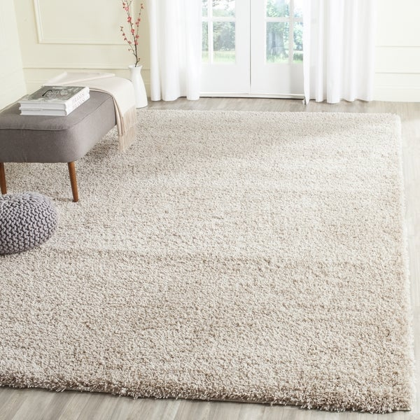 safavieh california cozy solid beige shag rug 4 california shag black 4 ft