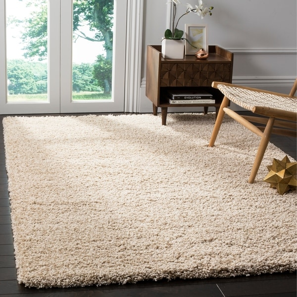 Safavieh California Cozy Plush Beige Shag Rug - 5'3 x 7'6