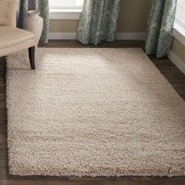 Safavieh California Cozy Plush Beige Shag Rug (5'3 x 7'6)